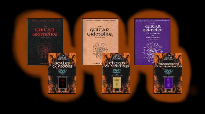 G.G. Scales, Chords, and Progressions Book Covers with matching DVDs